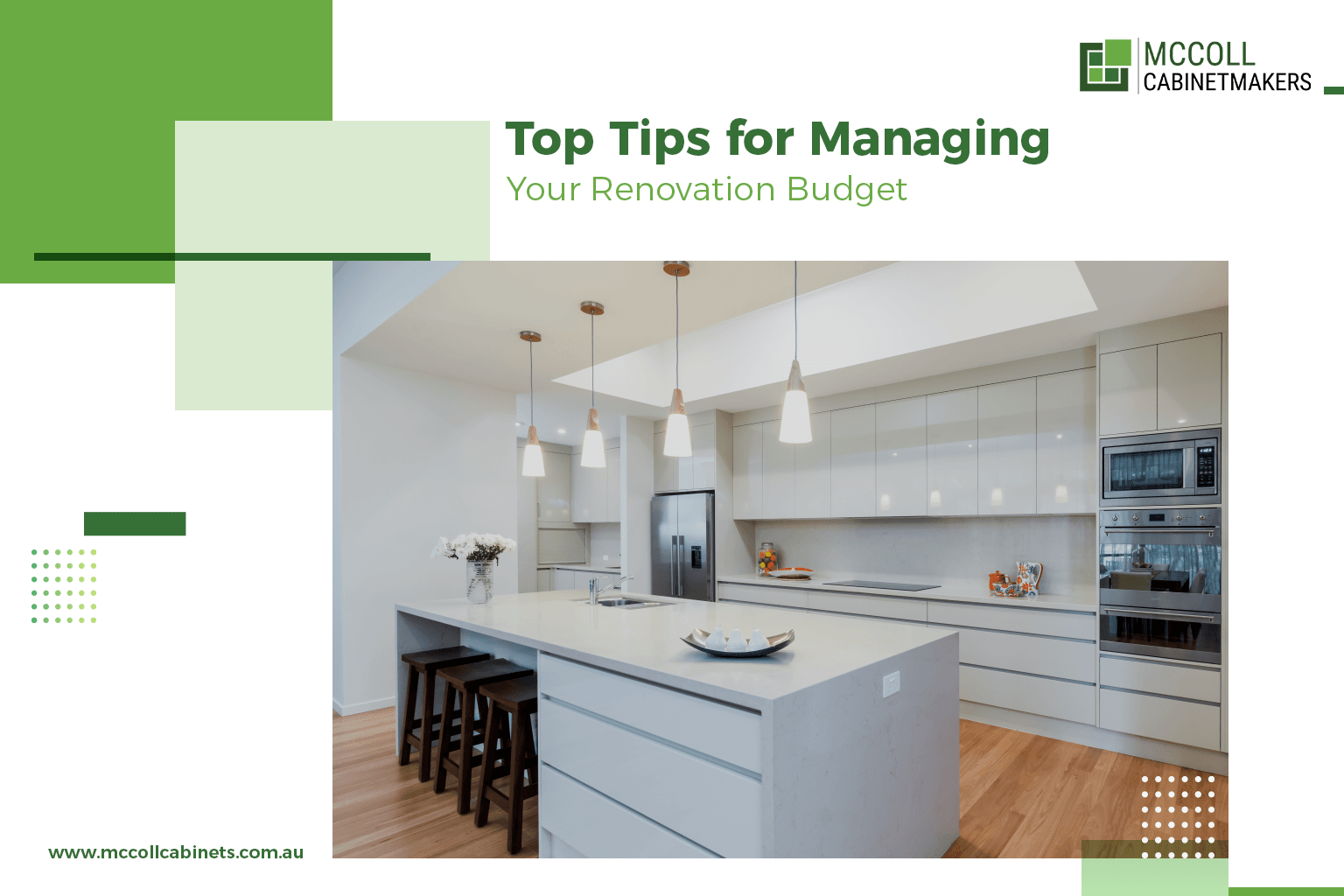 Tips for Managing Your Renovation Budget  | McColl cabinets