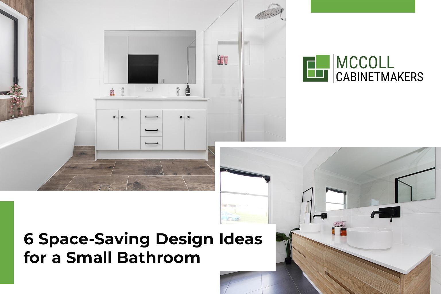 6 Space-Saving Design Ideas for Small Bathrooms