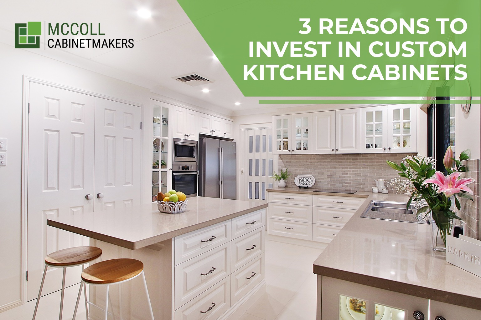 3 Reasons to Invest in Custom Kitchen Cabinets