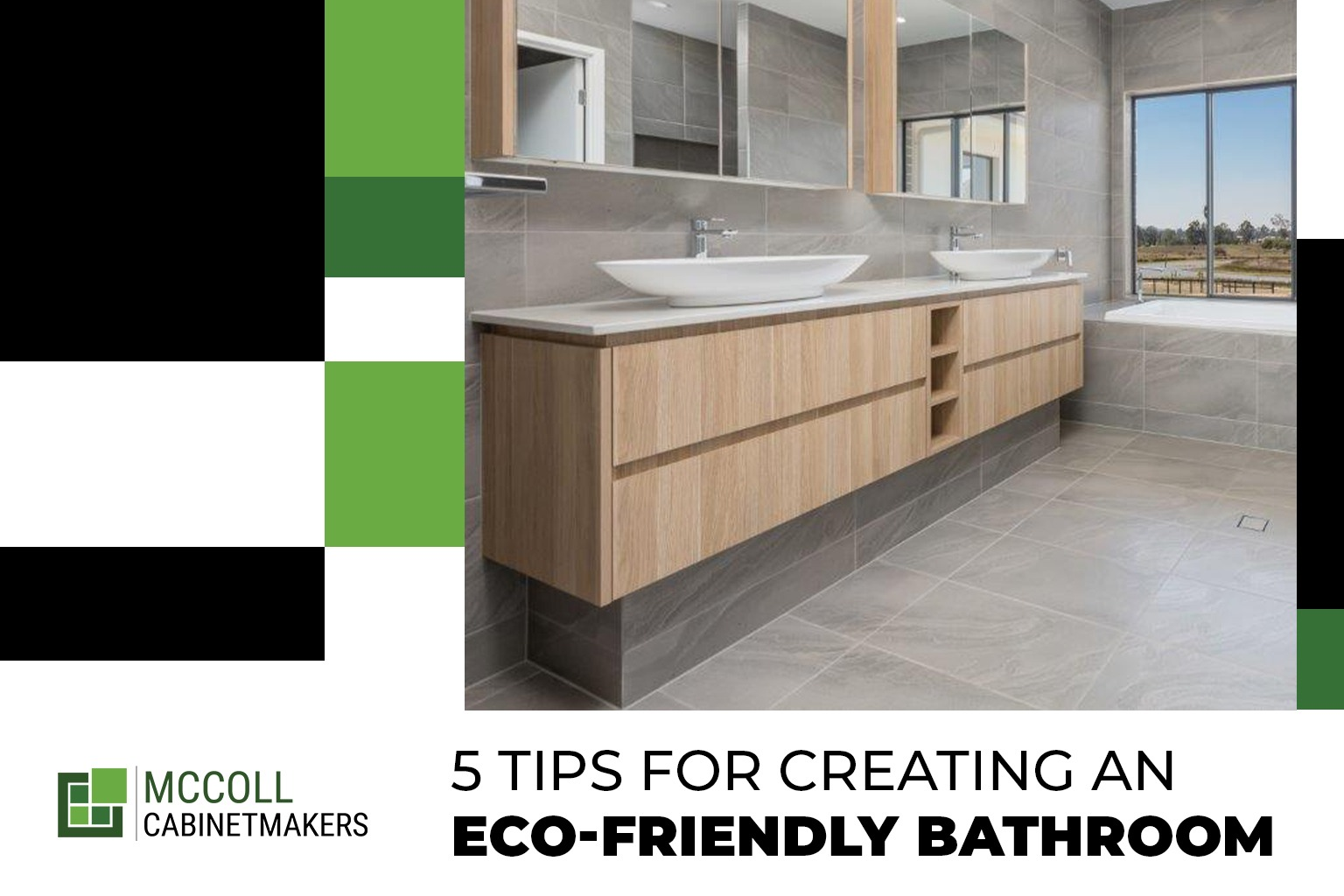 5 Tips for Creating an Eco-Friendly Bathroom