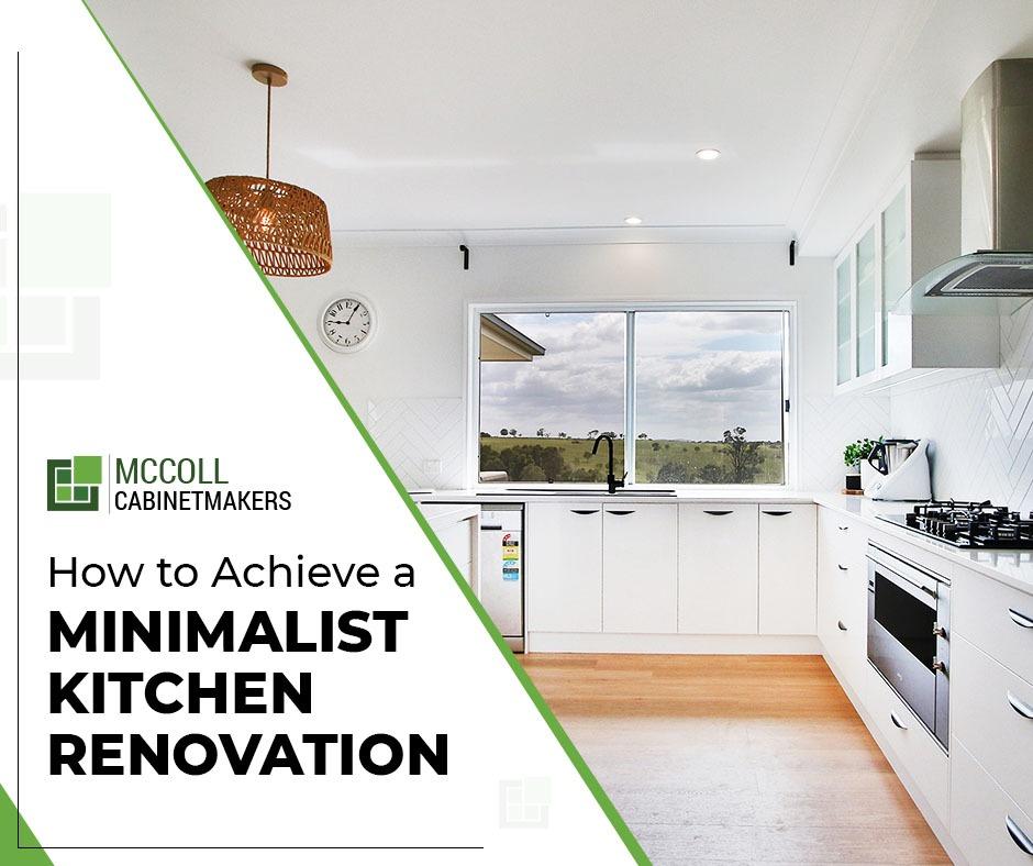 How to Achieve a Minimalist Kitchen Renovation